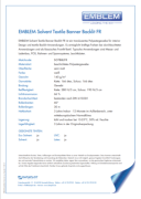 Emblem Solvent Banner Backlite FR - продуктов бюлетин