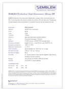 Emblem Vinyl Monomeric Glossy GR Removable - продуктов бюлетин