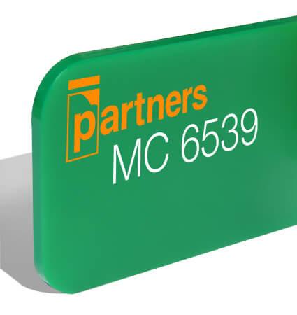 Green cast plexiglas 3mm 6539 Plazcast