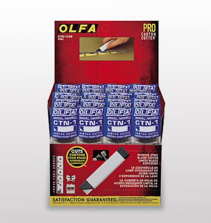 OLFA CTN 1 cutter - лек и компактен нож за картон