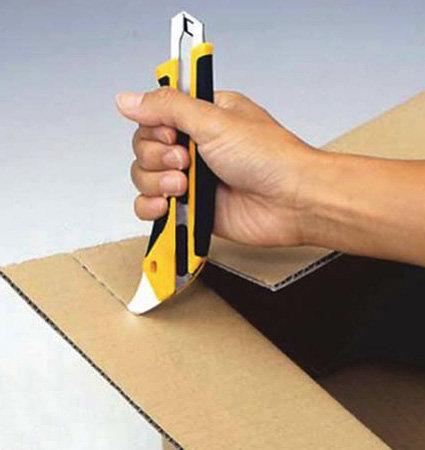 OLFA L5-AL snap-off blade knife - за картон и различни подови настилки