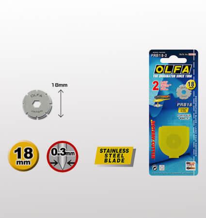 OLFA PRB18 2 stainless rotary blades