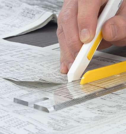 OLFA TS-1 snap-off blade knife - неръждаем макетен нож за фино изрязване