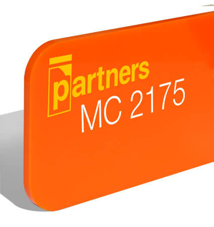 Orange cast plexiglas 3mm 2175 Plazcast