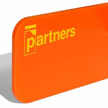 Оранжев PMMA за LED 3мм Plazcast
