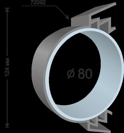 Профил за тотем с плексиглас -72092, 124мм