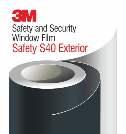 3M Safety and Security Exterior Window Films S40 - екстериорно ударозащитно фолио