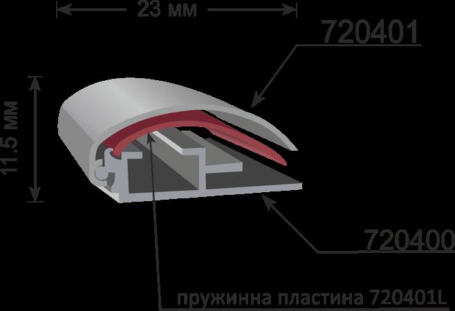 Профил 720400 за снап рамка 11,5мм