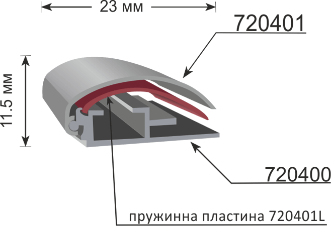 Clip frame 720400, 11.5mm