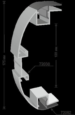 Totem plexiglas system 175mm - system 72038