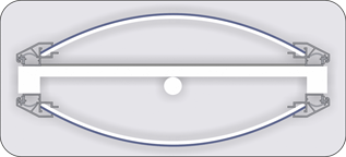 Разрез профил тотем с плексиглас 720321