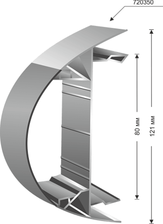 Totem for curved plexiglas - 720350
