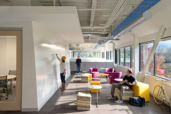 Стени, облепени с Whiteboard Film в IT офис