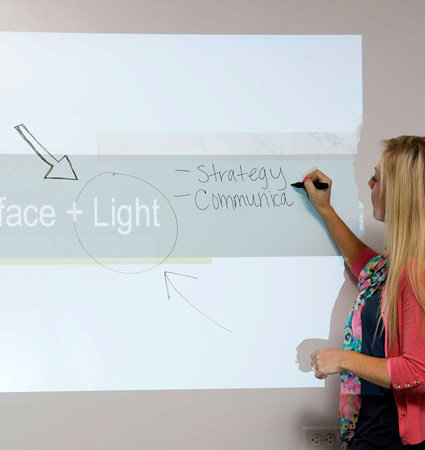 3M Architectural Whiteboard pwf-500 for projections