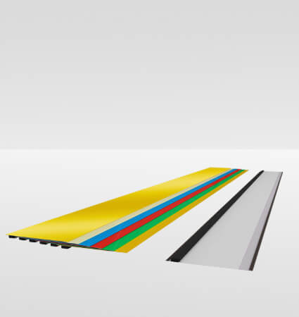 Aluminum profiles for manufacturing channel letters - colors RAL