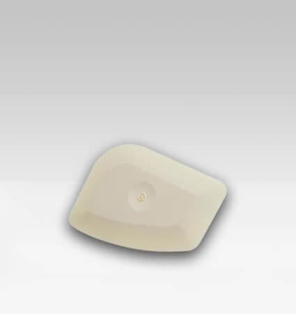 GT083W White Chizzler бяла шпакла за изстъргване на старо фолио, лепило, стикери