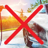 Не използвайте водоструйки за почистване на коли с фолио