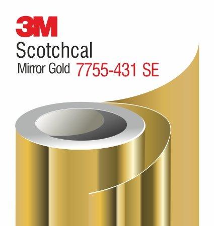 3M Scotchcal Mirror Gold Film 7755-431-SE - златно огледално фолио