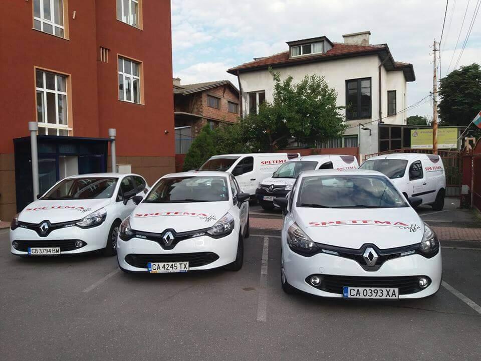 Vehicle branding for Spetema caffe
