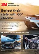 Брошура огледално хром фолио 3M 1080 Gloss Silver Chrome
