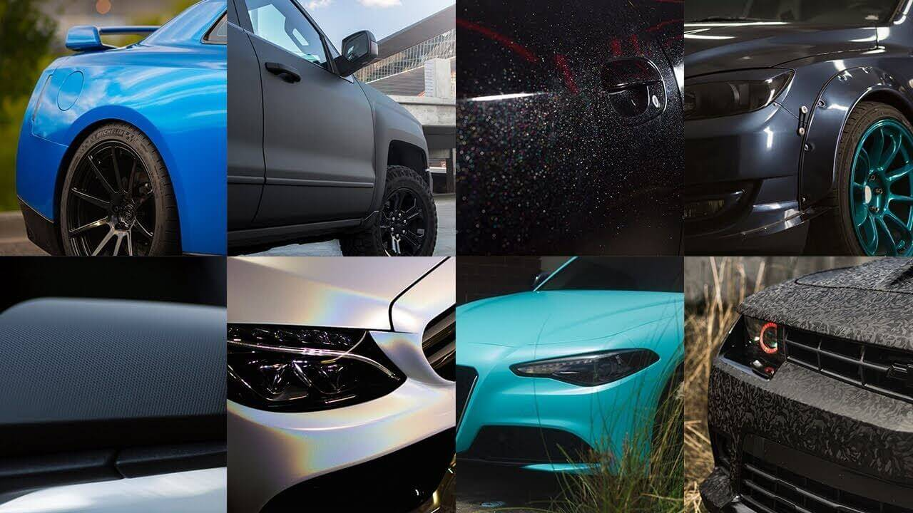 The different textures and colors of 3M 1080 Car Wrap Films