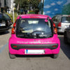 White letterings on pink film 3M Scotchcal 80 for Food Panda cars