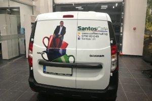 Димитър Рачков украси автомобилите на Santos Cafe