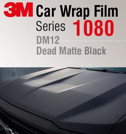 3M Car Wrap 1080-DM12 Dead Matte Black - фолио черен мат за автомобили
