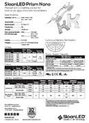 SloanLED Prism Nano - pdf технически бюлетин