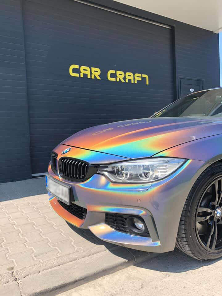 Car wrapping of BMW by Car Craft using chameleon like 3M vinyl film