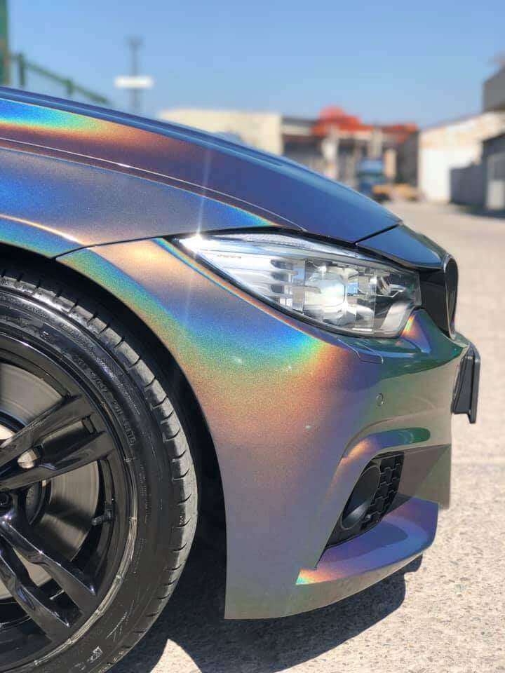 BMW 428i wrapped with gloss flips color film 3M 1080