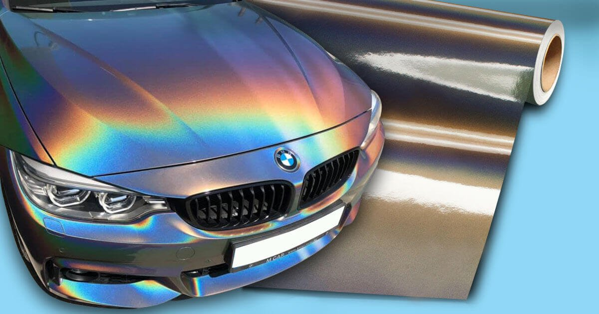 BMW4 car warpping in chameleon color -3M 1080-GP281