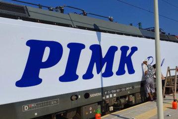 Надписи от фолио 3M Scotchcal 50 - апликиране на вагон