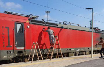 Подготовка за облепяне на вагон с фолио