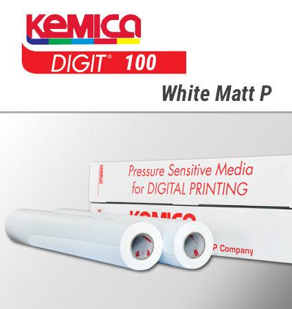 DIGIT 100 White Matt Permanent - мономерно фолио за печат, бял мат