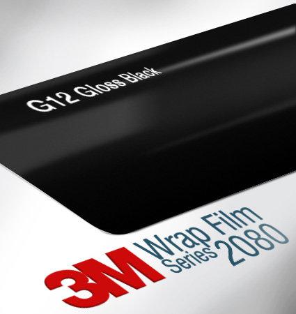 3M 2080-G12 Gloss Black фолио черен гланц за автомобили
