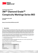3M Conspicuity Markings PDF - Продуктов бюлетин