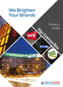 SloanLED PosterBox Mini product bulletin