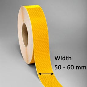 3M Conspicuity Tapes for trucks meets the requirements for width of ECE104 regulation