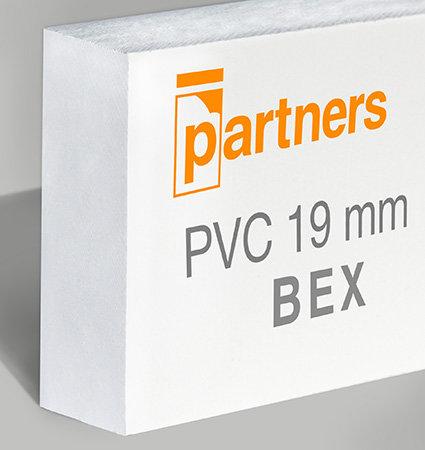 Разпенено ПВЦ BEX 19мм, с твърдо покритие, цвят бял