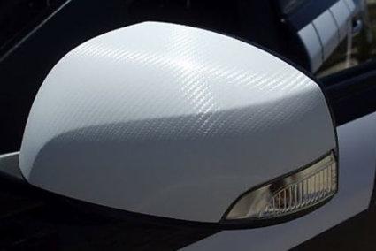 3M 2080 Carbon Fiber Car Wrap, автомобилно фолио, бяло - странично огледало