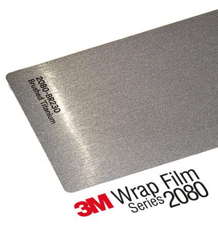 3M 2080 Car Wrap Series - Brushed Titanium, драскан титан
