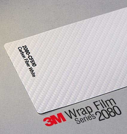 3M Wrap Film Series 2080, карбоново автомобилно фолио, бяло