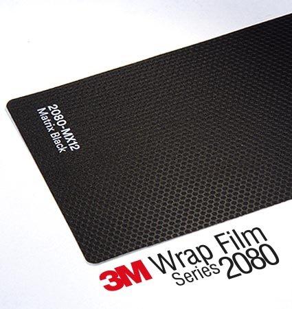 3M Wrap Series 2080 - текстурирано фолио - черна матрица
