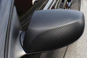 3M 2080 Carbon Fiber Film - черно карбоново фолио за облепяне - странично огледало