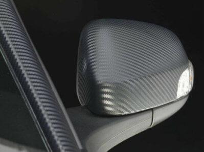 3M 2080 Carbon Wrap Series, облепяне на странично огледало