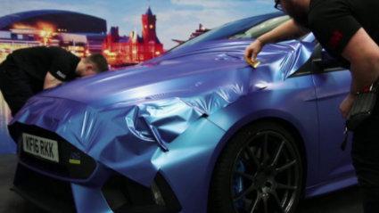 3M 2080 Car Wrap Film Series SP277 - Flacial Frost, Облепяне на автомобил, син сатен