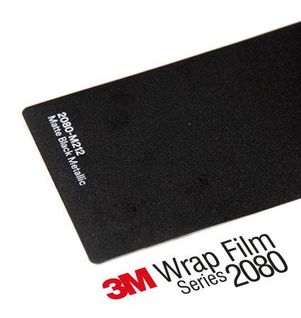 3M 2080 Wrap Film Series M212 Black Metallic - черен металик, мат