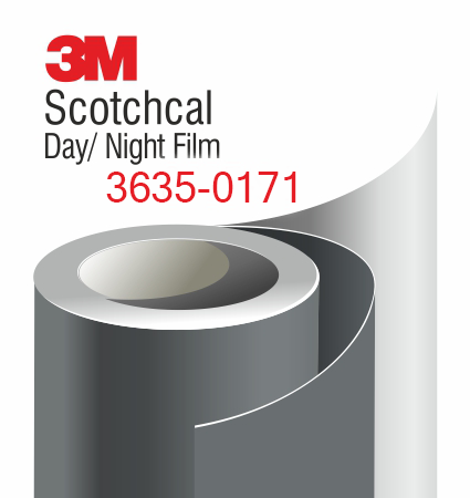 3M Scotchcal Day/Night Dark Gray Film 3635-0171 – тъмно сиво (почти черно), пропускащо светлината фолио