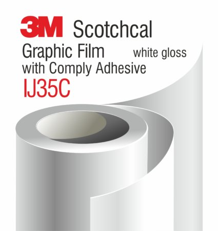 3M Scotchcal Graphic Film with Comply Adhesive IJ35C, бял гланц